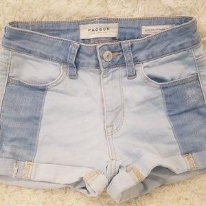 Pacsun Patchwork shortie shorts sz. 22